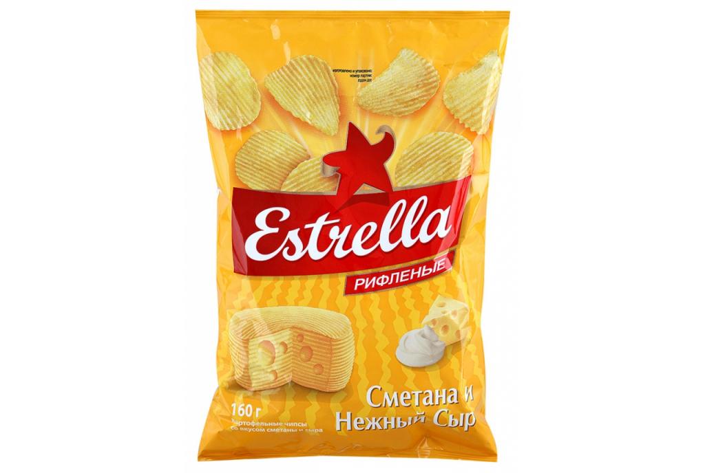Чипсы Эстрелла (Estrella): состав, вкусы 2 оригинальных и простых рецепта блюд из чипсов