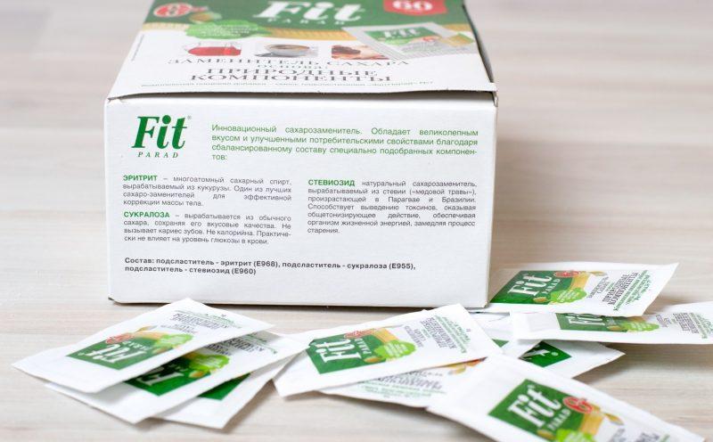 Сахарозаменитель Фит Парад (Fit Parad): польза и вред, состав, виды, свойства, применение при диабете