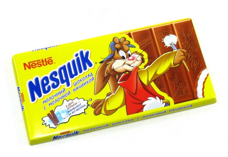 Шоколад Несквик (Nesquik): ассортимент, состав, калорийность, производитель