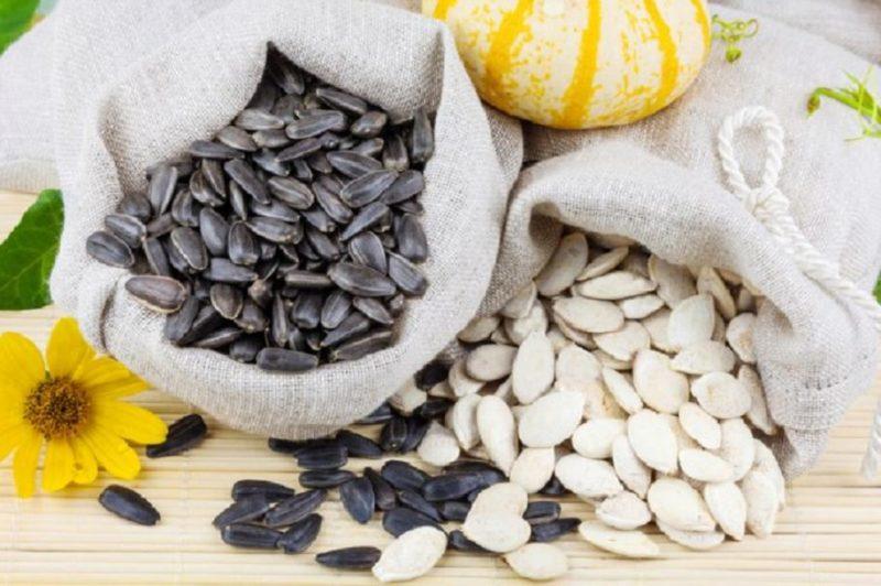 Сколько калорий в семечках тыквы и подсолнечника, пищевая ценность, БЖУ, польза и вред для организма