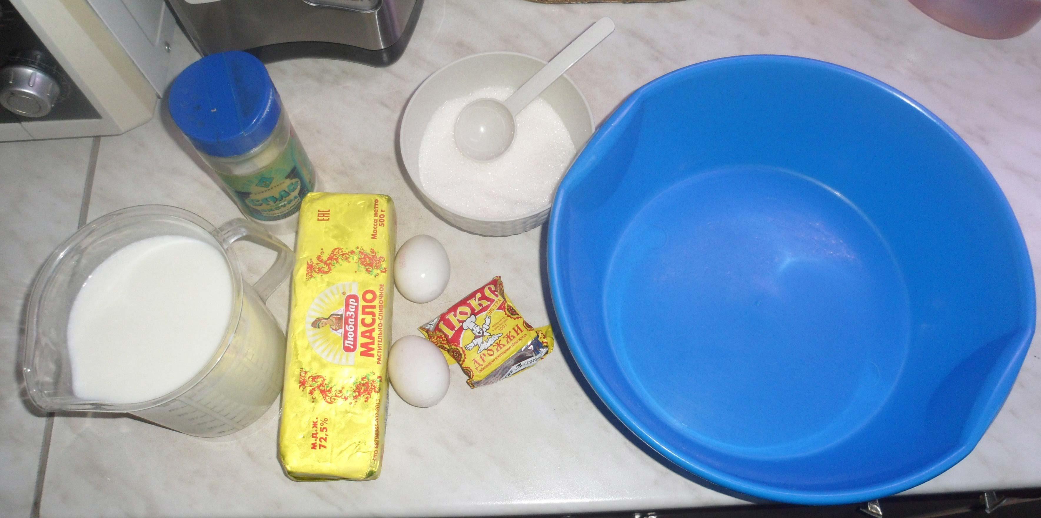 рецепт теста на булочки