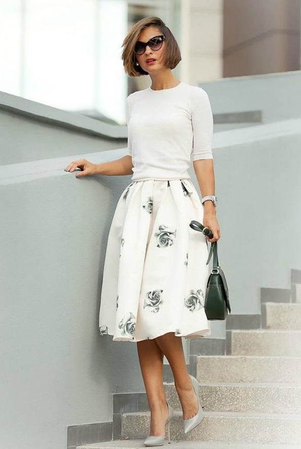 Юбка солнце, с чем носить разные модели юбки: короткую, миди, длинную, асимметричную, клеш, ретро