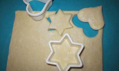 Печенье из слоеного теста рецепты с начинкой, в духовке