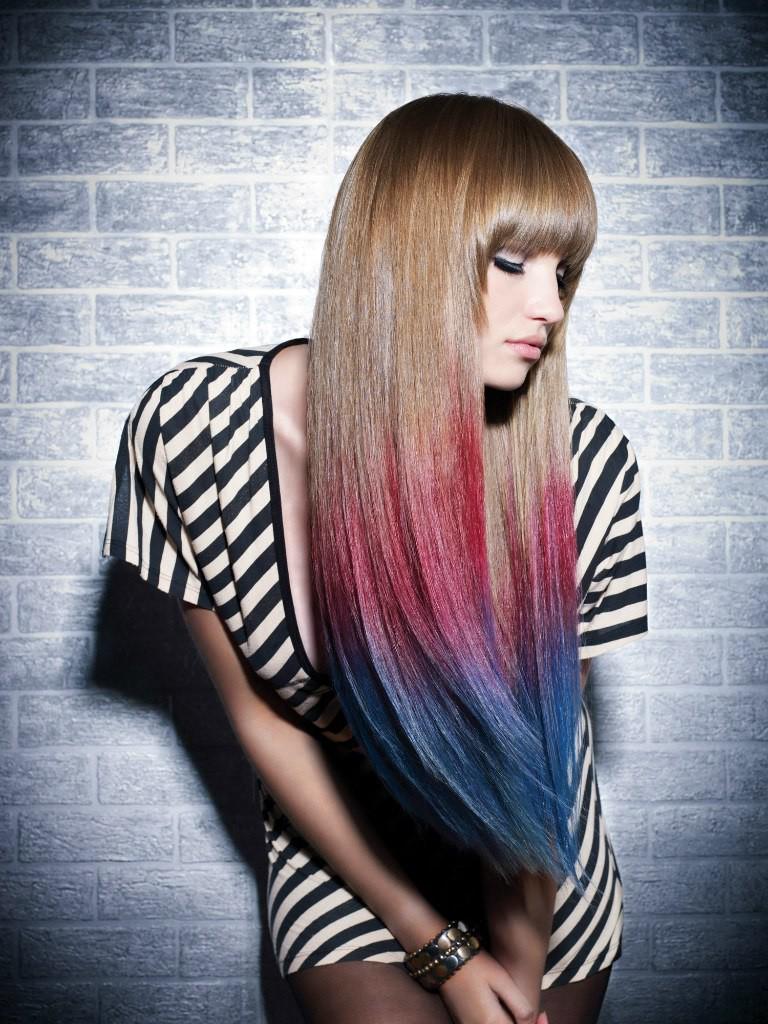 Омбре на средние волосы: варианты окрашивания на темные и светлые волосы, фото