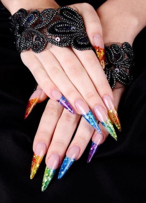Френч на острых ногтях 💅 – 4 идеи красивого и модного дизайна с фото