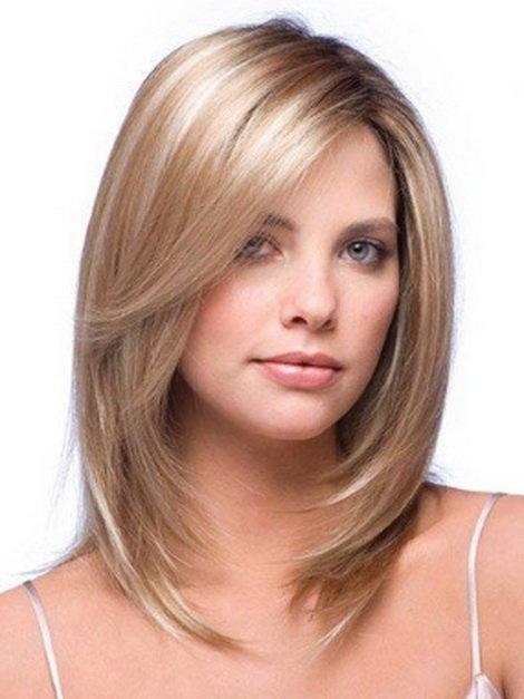 Стрижка лесенка на средние волосы с челкой и без – в чём преимущества и кому подходит, простые варианты укладки