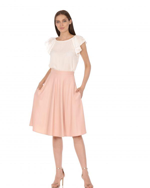 С чем носить юбку полусолнце: фото стильных и модных образов