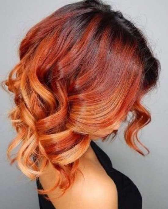Омбре на средние волосы − 10 вариантов окрашивания волос с переходом цвета, фото