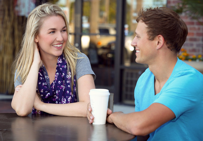 Young couple on a coffee date