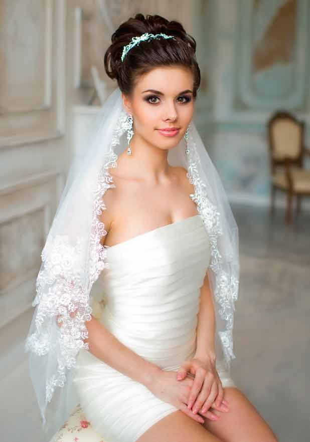 Свадебные прически на короткие волосы – 7 вариантов красивых и простых причесок для невесты, новинки 2018 с фото