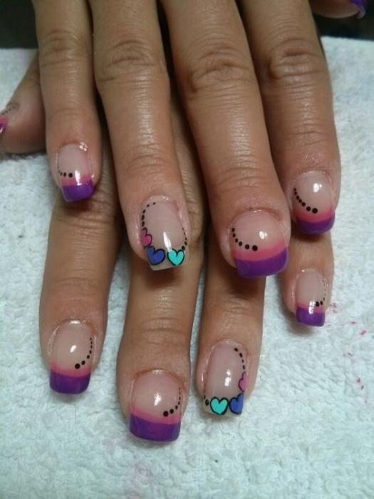 Разноцветный френч 💅 — 13 идей модного маникюра, фото на ногтях