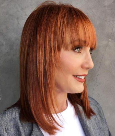 Удлиненное каре с челкой — 6 вариантов с косой и прямой челкой, на длинные и средние волосы, фото