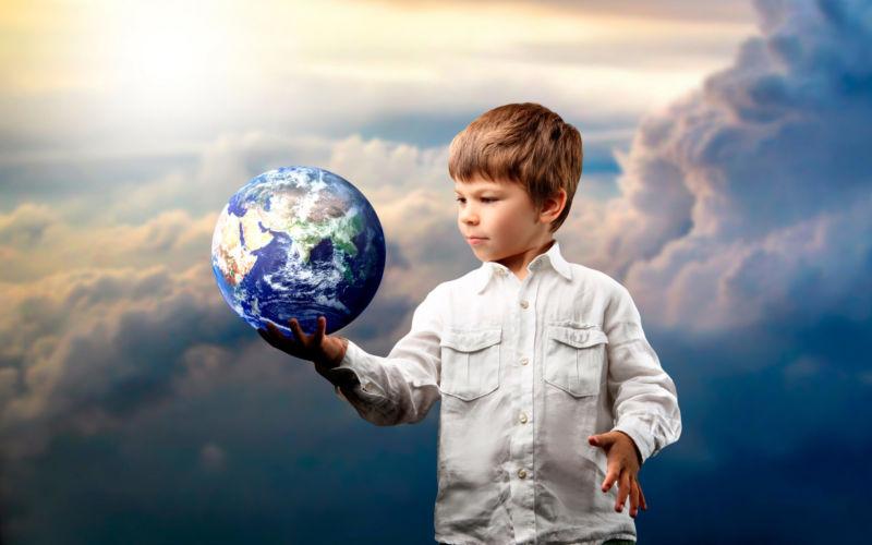 планета и мальчик