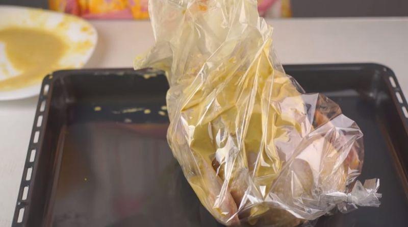 курочка в пакете для запекания