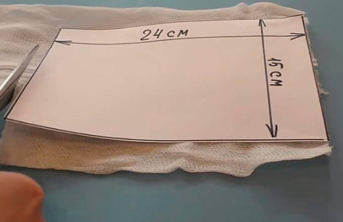 шаблон для марлевой повязки
