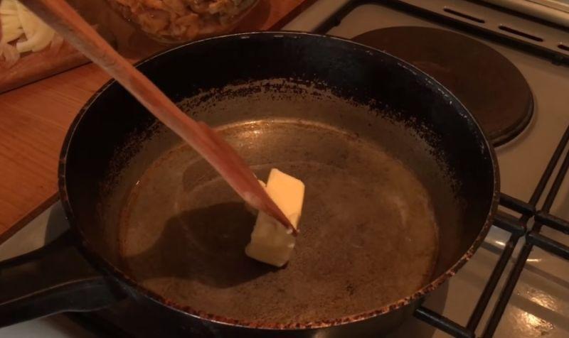масло сливочное и подсолнечное
