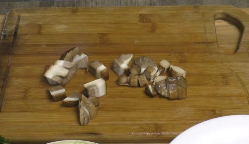 грибы кубиками